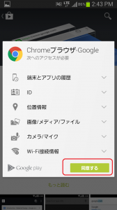 Android Google Play Chromeブラウザ詳細