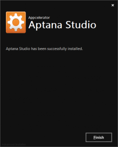 Aptana Studio 3 インストール完了