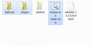 Pleiades コピーするファイル